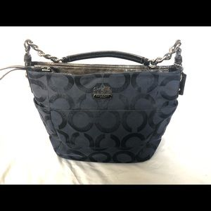 Coach navy handbag